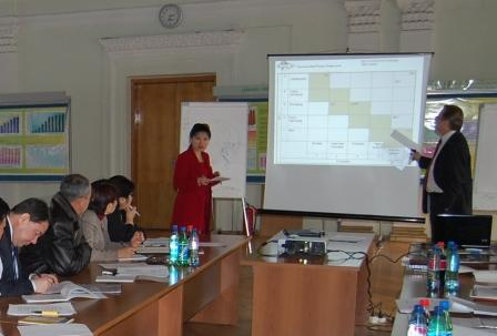 Capacit building seminar at the Aiyl Bank, Kyrgyzstan