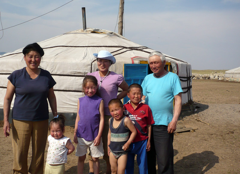 Herders family in Mongolia